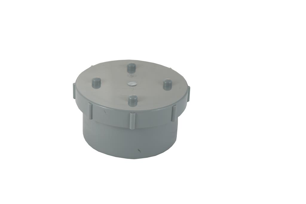 SOIL SOLVENT WELD 110MM ACCESS CAP LIGHT GREY