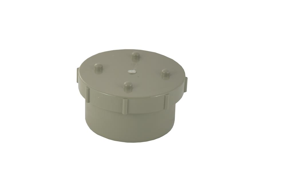 SOIL SOLVENT WELD 110MM ACCESS CAP OLIVE GREY