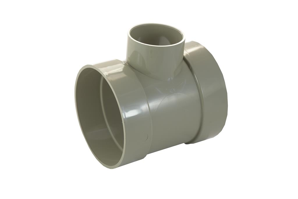 SOIL SOLVENT WELD 110MM SHORT BOSS PIPE 50MM OLIVE GREY