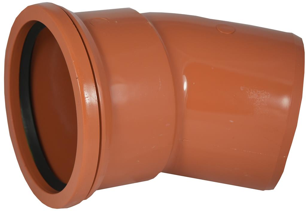 UNDERGROUND 110MM SINGLE SOCKET 30 DEGREE BEND