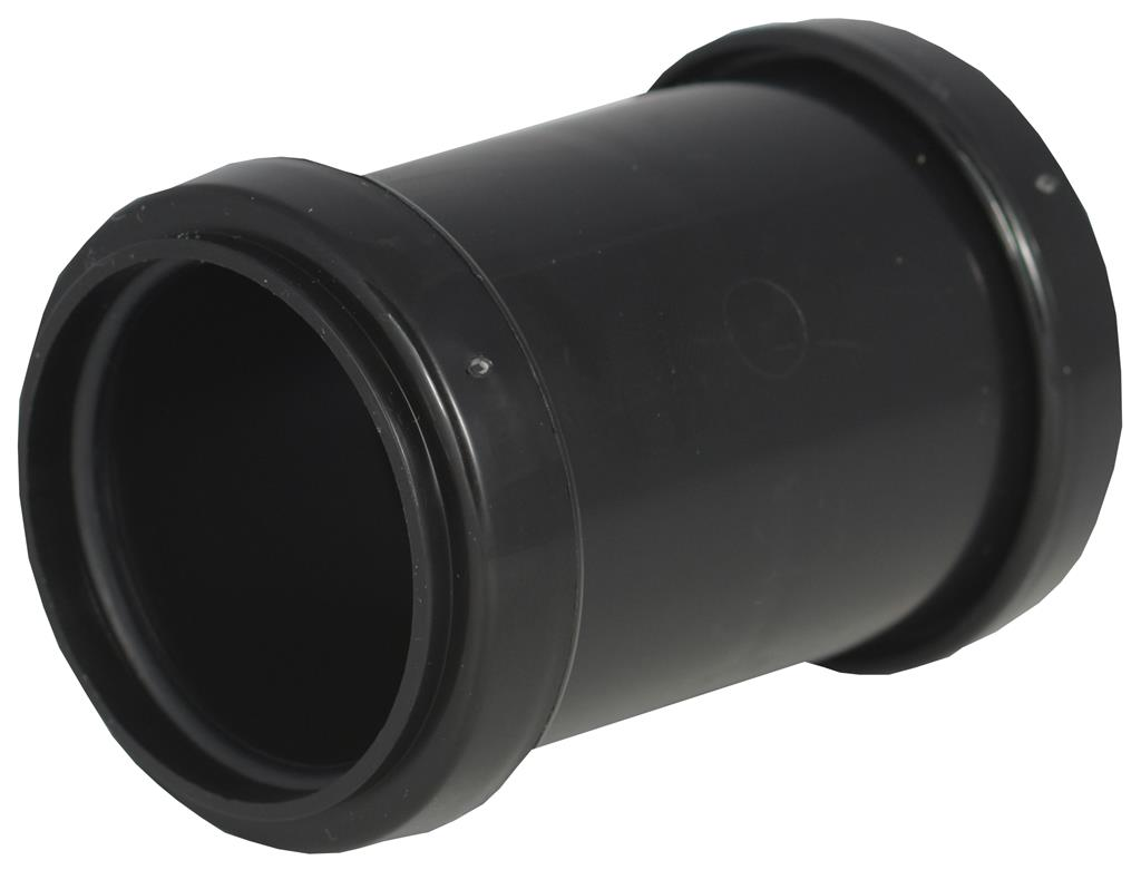 WASTE PUSH FIT 32mm COUPLING BLACK