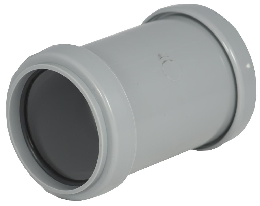 WASTE PUSH FIT 32mm COUPLING GREY