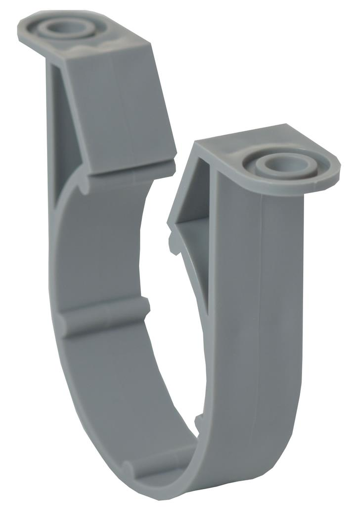 WASTE SOLVENT WELD 50mm PIPE CLIP LIGHT GREY