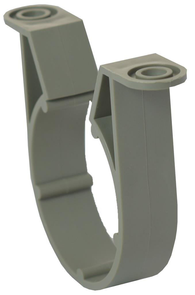 WASTE SOLVENT WELD 50mm PIPE CLIP OLIVE GREY