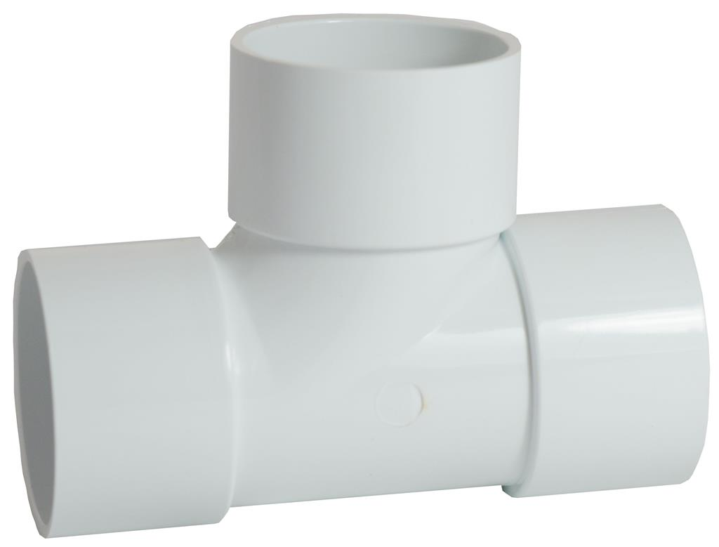 WASTE SOLVENT WELD 50mm 90 DEGREE TEE WHITE