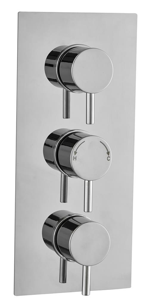 CONCEALED SHOWER THERMOSTATIC VALVE ROUND 2 WAY