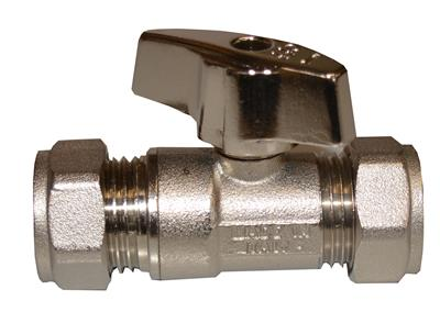 22mm CHROME ISOLATING VALVE & METAL LEVER