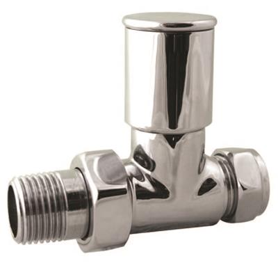 TOWEL WARMER VALVE STRAIGHT 15mm CHROME