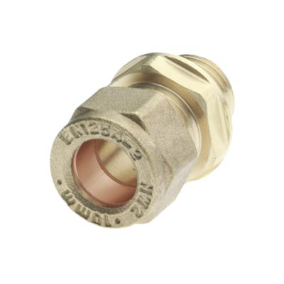 "COMPRESSION 10mm x 1/4"" STRAIGHT CONNECTOR MALE IRON"