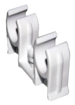 PRE PAC CLIP DOUBLE SNAP IN WHITE 22mm PK5