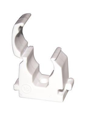 PRE PAC CLIP SINGLE HINGE WHITE 15mm PK10