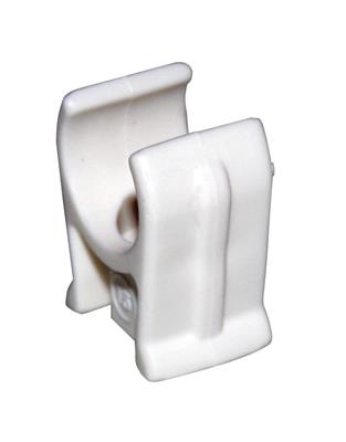 PRE PAC CLIP SINGLE SNAP IN WHITE 22mm PK10