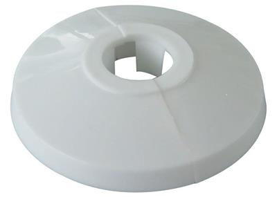 PRE PAC PIPE COLLAR WHITE 15mm PK2