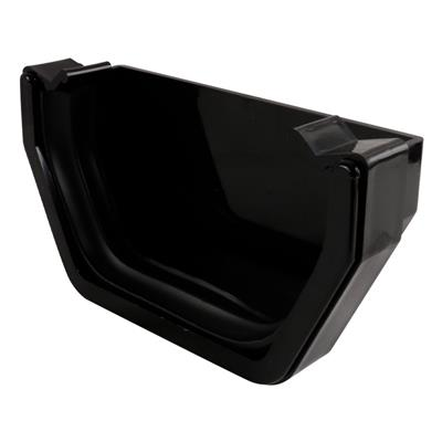 SQUARE LINE GUTTERING STOP END EXTERNAL BLACK