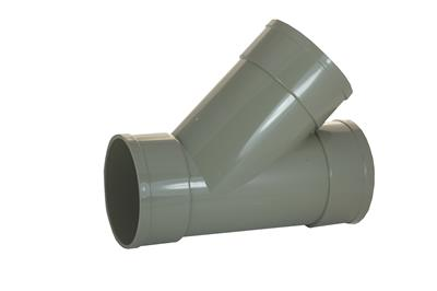 SOIL SOLVENT WELD 110MM TRIPLE SOCKET 45 DEGREE TEE GREY