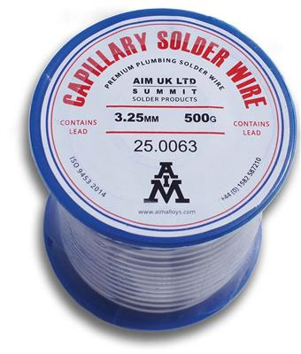 LEADED SOLDER WIRE 500g REEL