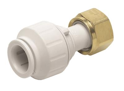 "SPEEDFIT 22mm x 3/4"" STRAIGHT TAP CONNECTOR WHITE"