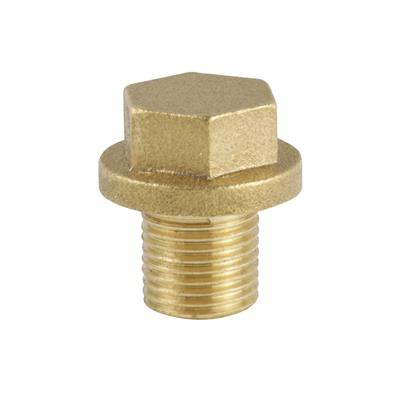 "THREADED BRASS 1/8"" FLANGE PLUG"