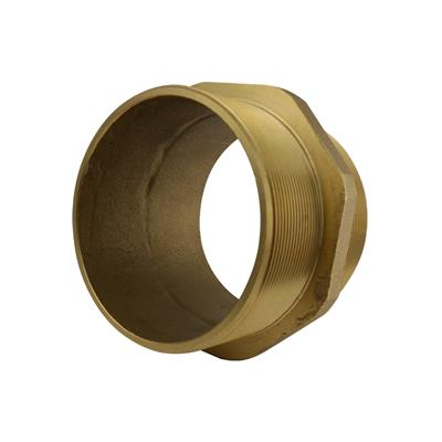 "THREADED BRASS 4"" HEX NIPPLE"