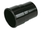 ROUND DOWNPIPE COUPLER BLACK