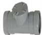 SOIL PUSH FIT 110MM SINGLE SOCKET ACCESS PIPE GREY