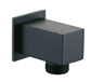 Shower Wall Outlet Elbow Square Matt Black