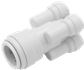 TWISTLOC 22mm x 10mm FOUR WAY CONNECTOR WHITE
